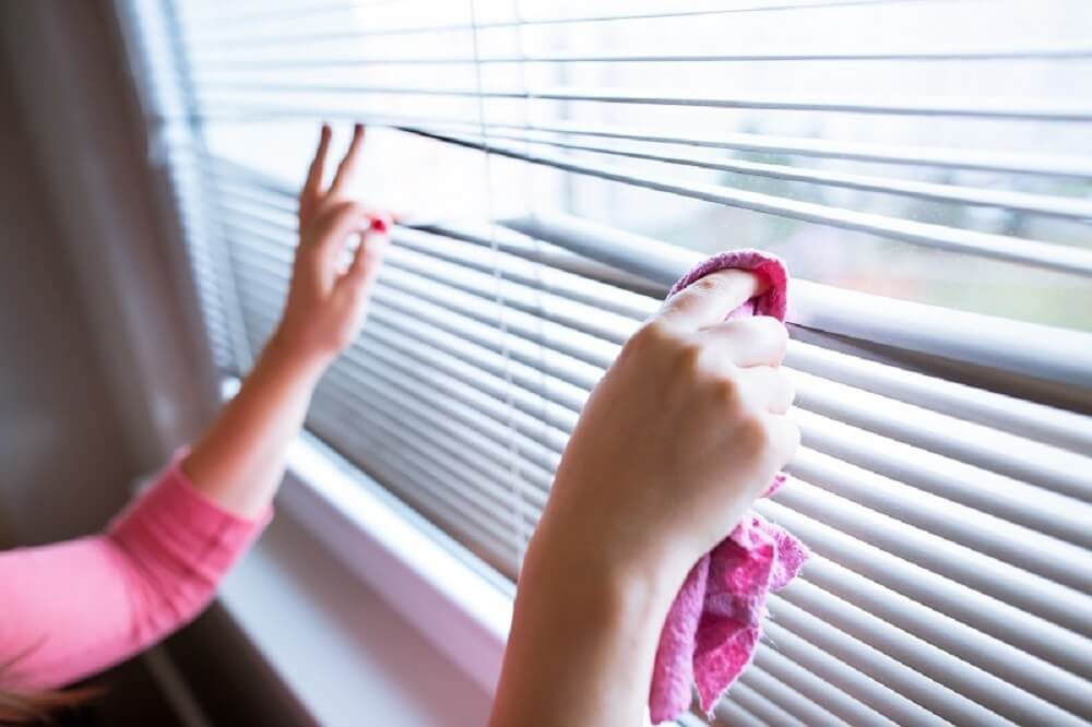 Roman Blinds Cleaning